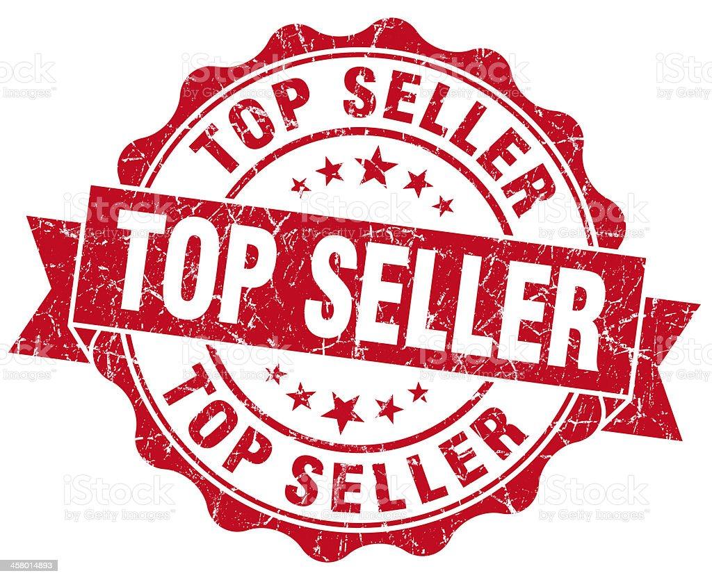 Top Seller Grunge Stamp vector art illustration