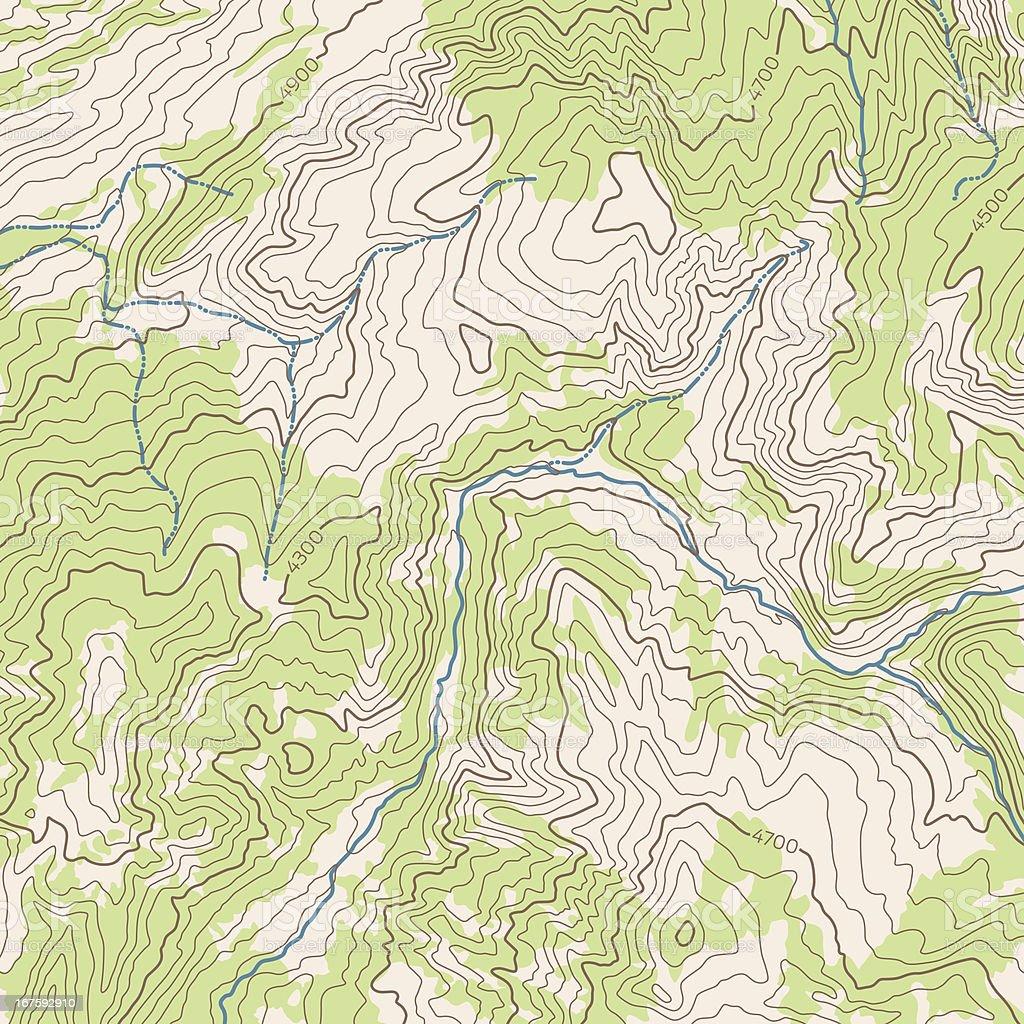 Topographic Background vector art illustration