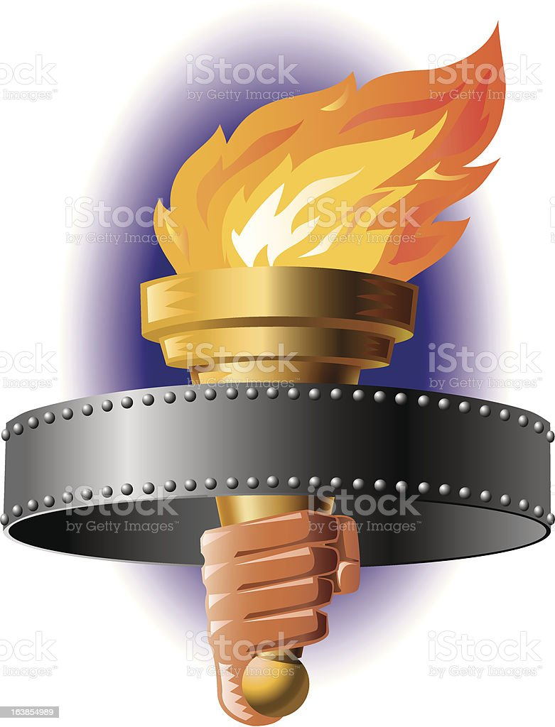 Torch Banner royalty-free stock vector art
