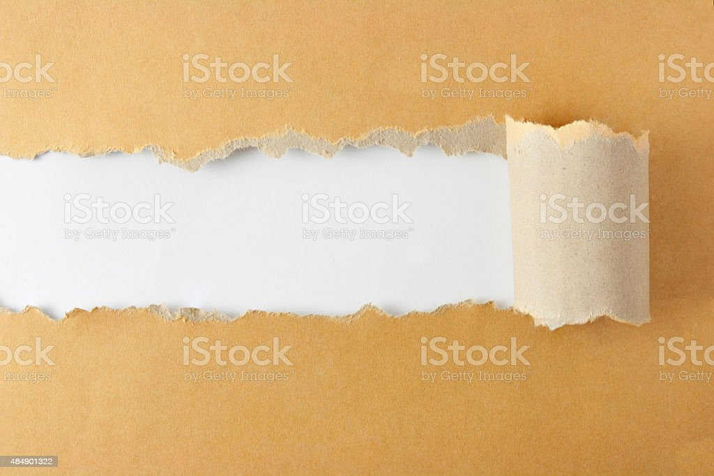Torn Paper Concept vector art illustration