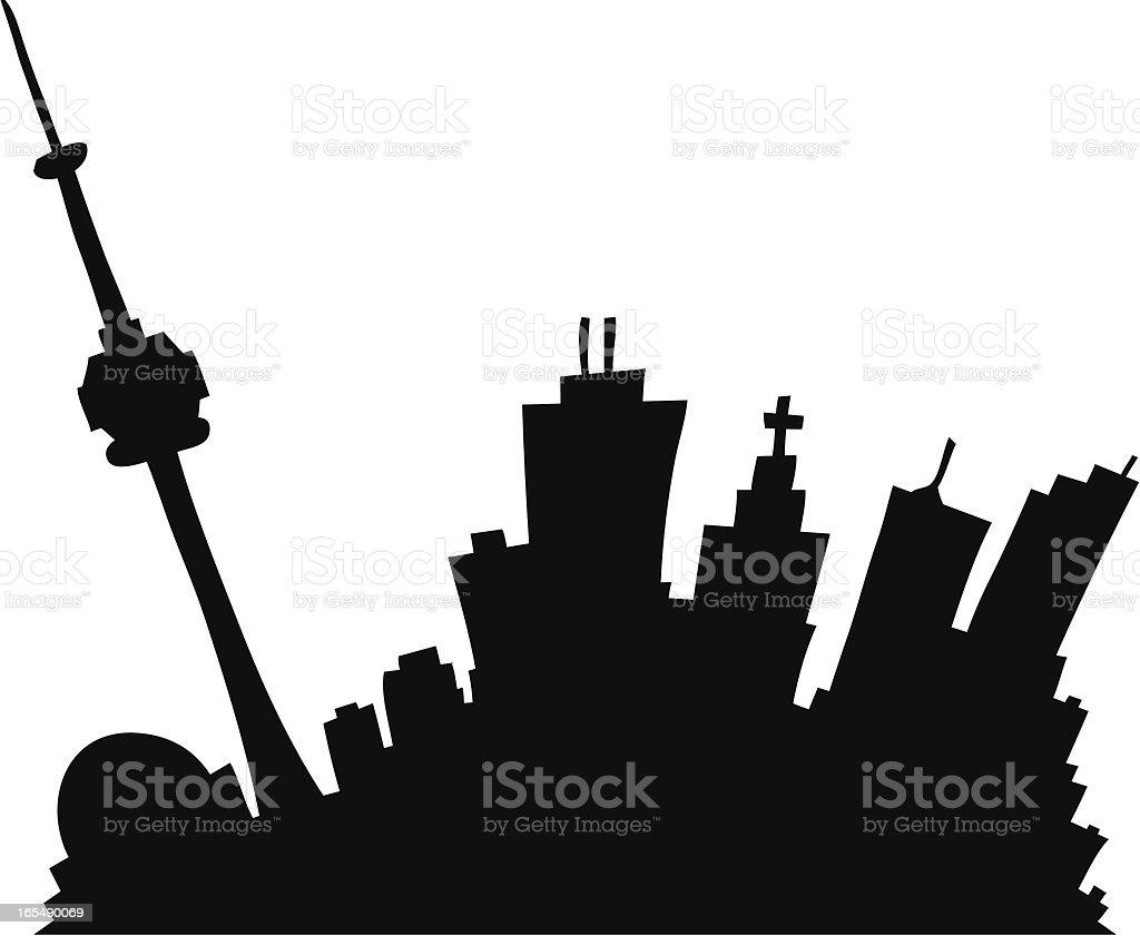 Toronto Downtown vector art illustration