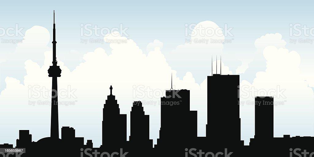 Toronto Skyline vector art illustration
