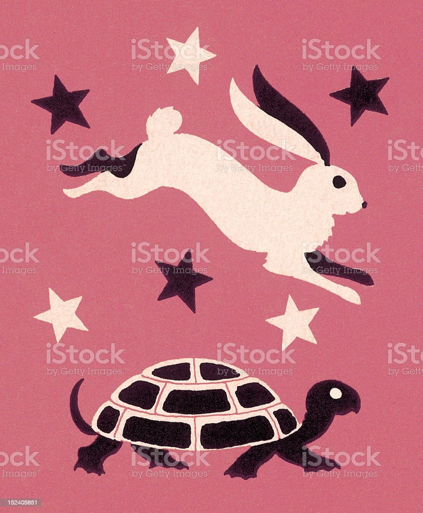 Tortoise and Hare royalty-free stock vector art