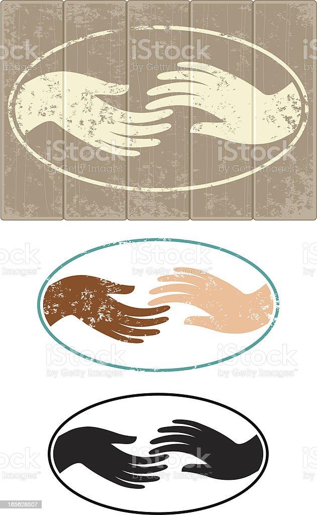 Touching vector art illustration