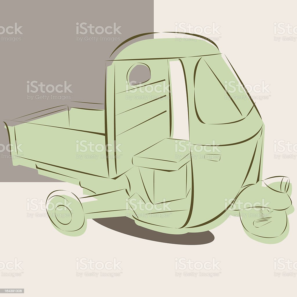 Tough Work Vehicle from Indian royalty-free stock vector art