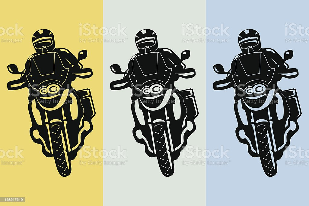 Touring motorcycle vector art illustration