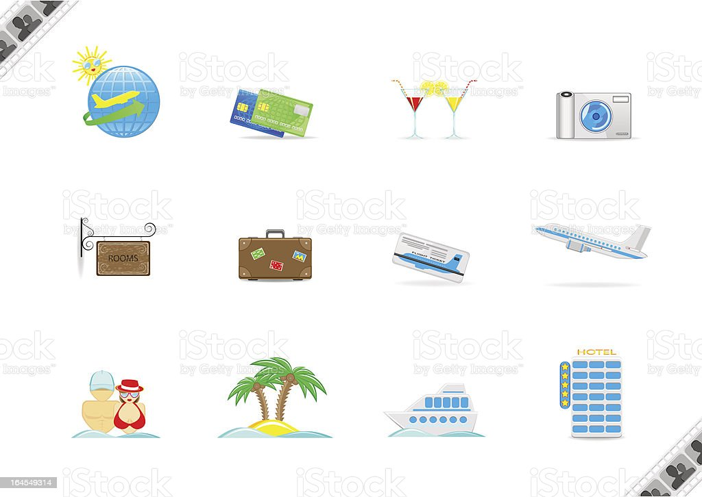 tourism, set of vector illustrations royalty-free stock vector art