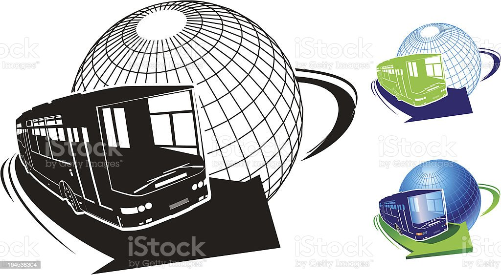 Tourist bus royalty-free stock vector art