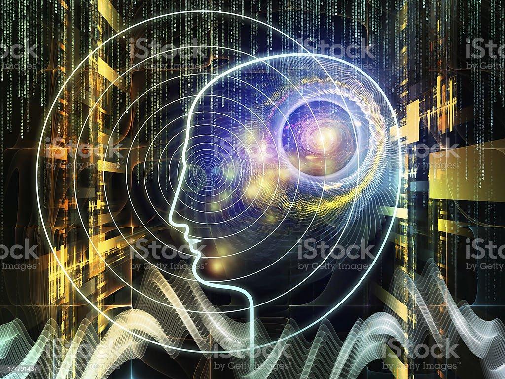 Toward Digital Consciousness royalty-free stock vector art
