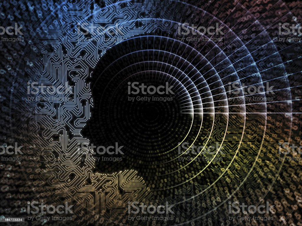 Toward Digital Intelligence royalty-free stock vector art
