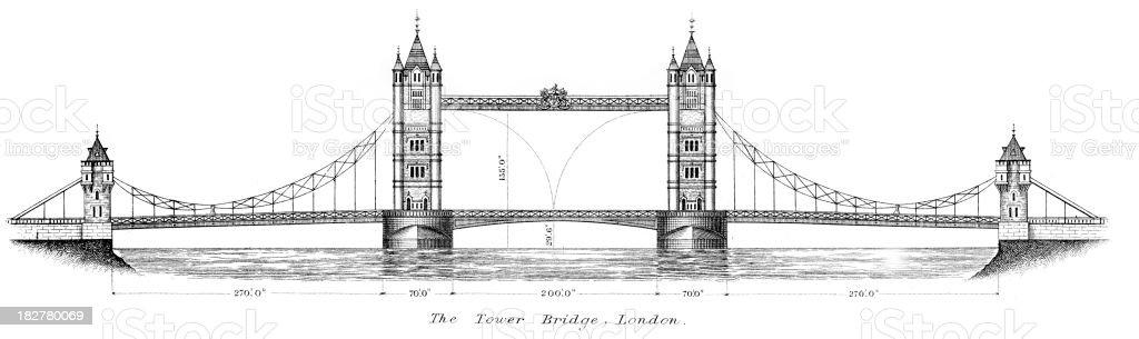 Tower Bridge, London royalty-free stock vector art
