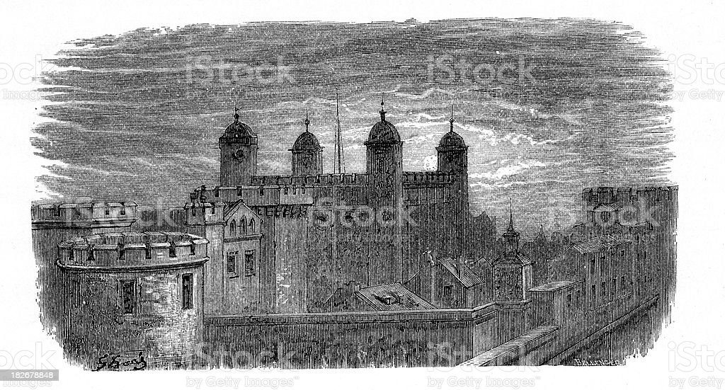 Tower of London royalty-free stock vector art