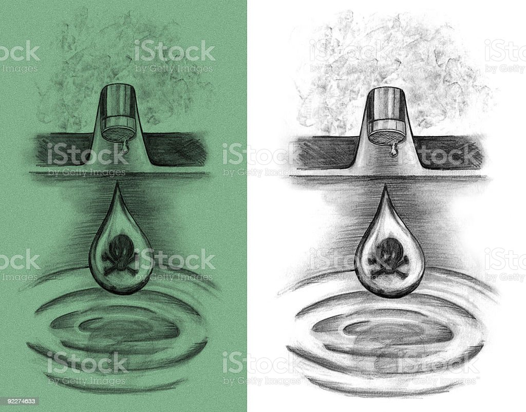 Toxic Tap royalty-free stock vector art