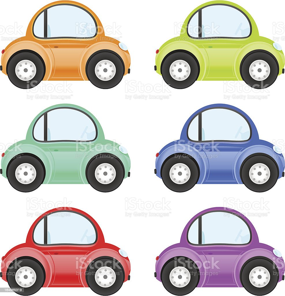 Toy cars royalty-free stock vector art