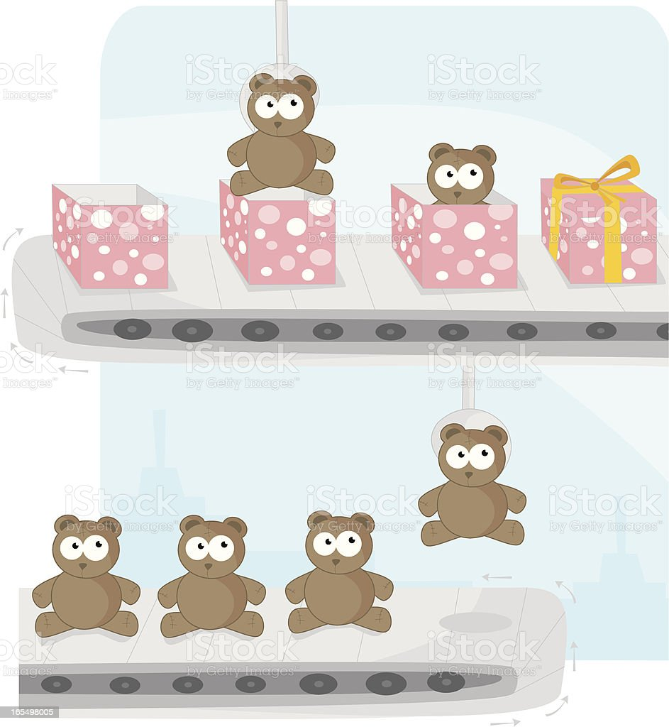 Toy Factory royalty-free stock vector art