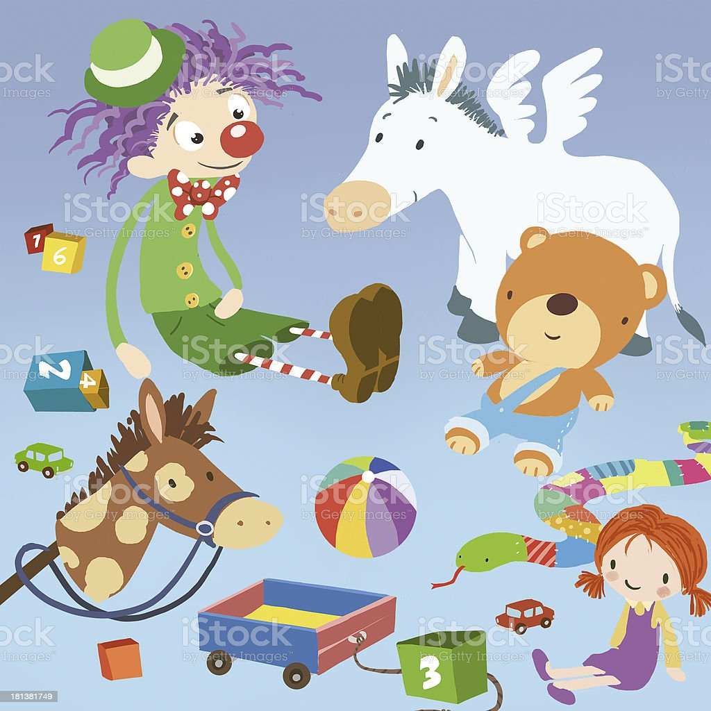 Toys royalty-free stock vector art