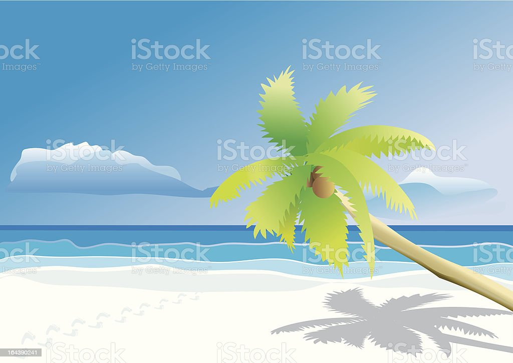 Traces on beach royalty-free stock vector art