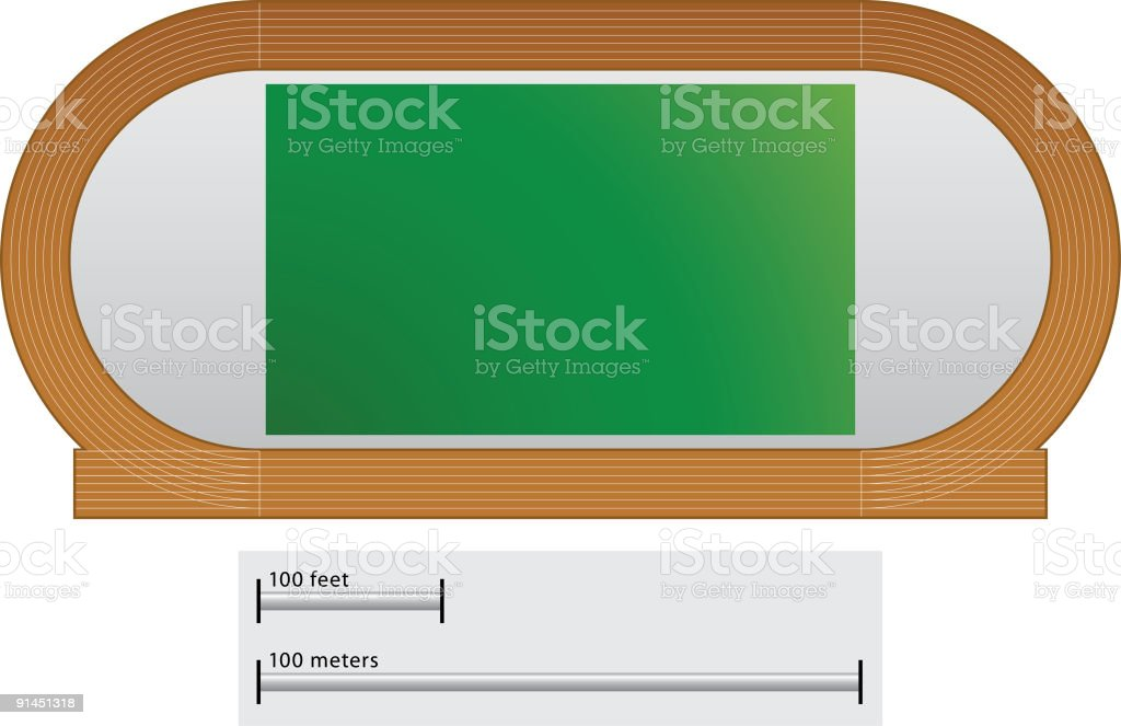 Track and field royalty-free stock vector art