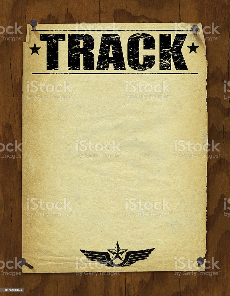 Track and Field Poster Background - Retro royalty-free stock vector art