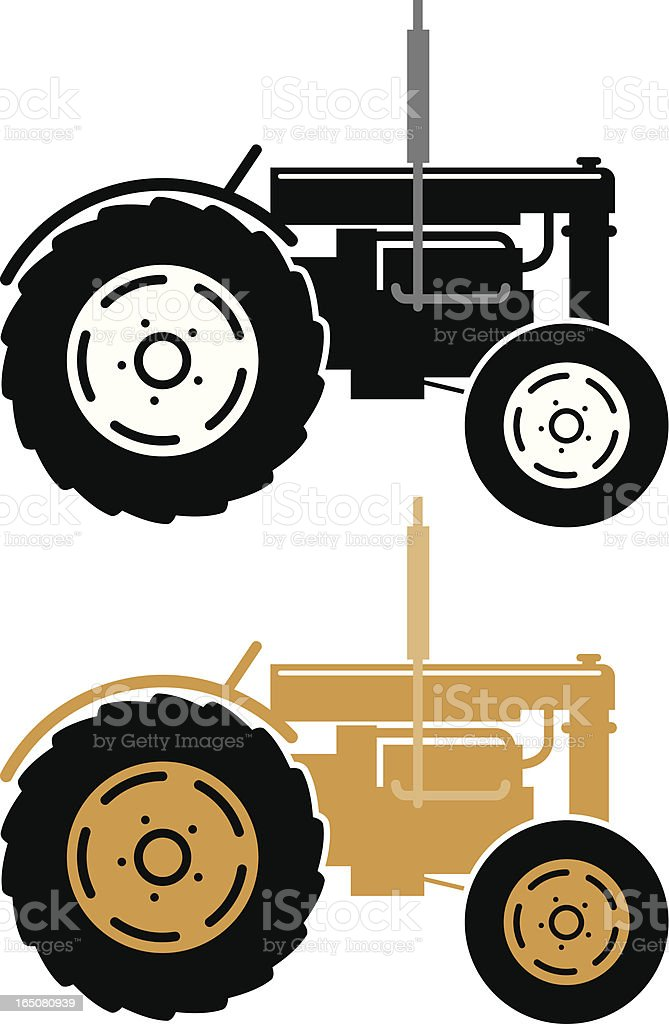 Tractor icon. royalty-free stock vector art
