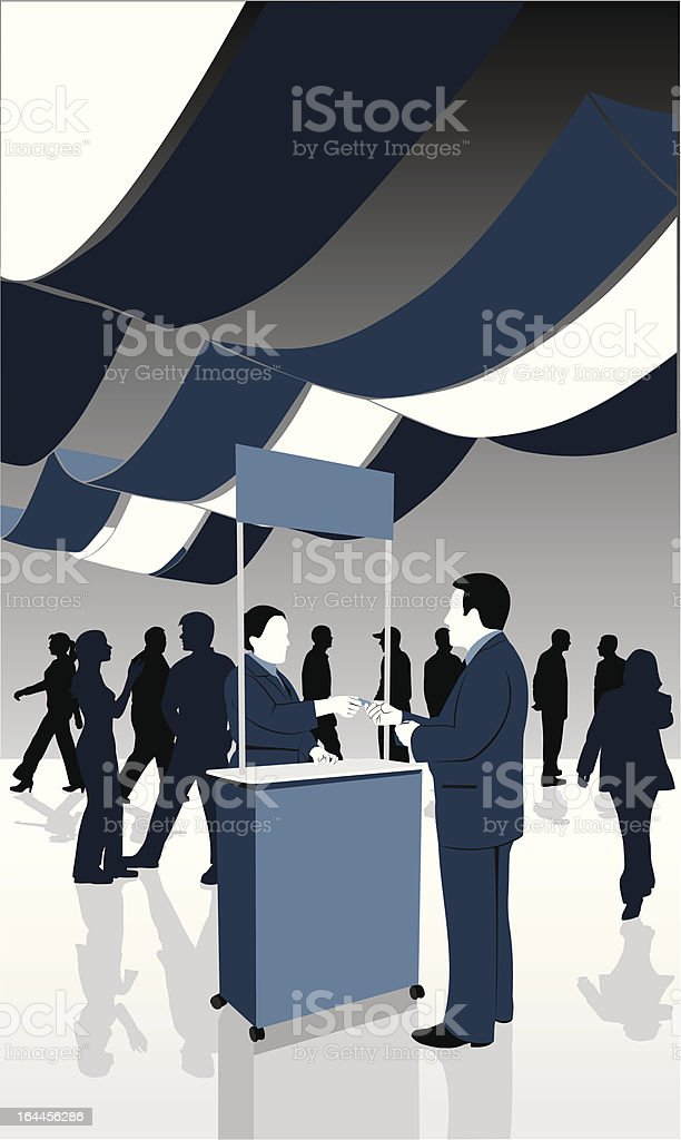 Trade show silhouettes vector art illustration