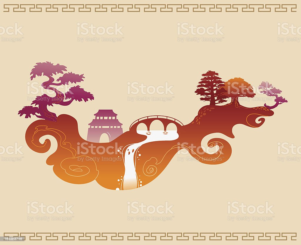 Traditional abstract japanese background royalty-free stock vector art