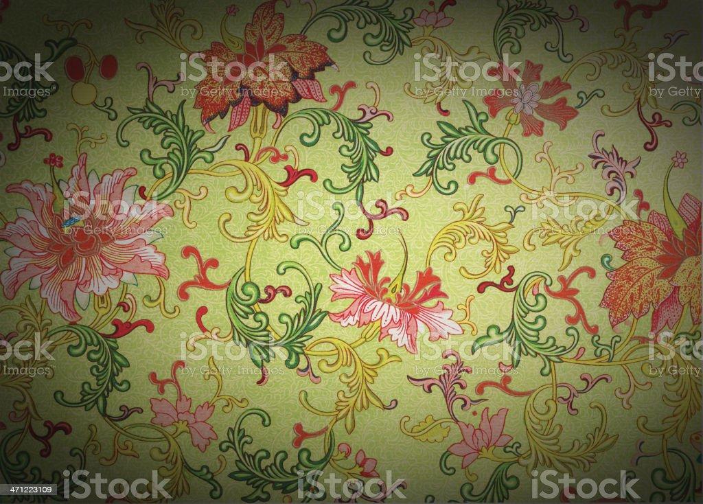 Traditional Asian Wallpaper royalty-free stock vector art