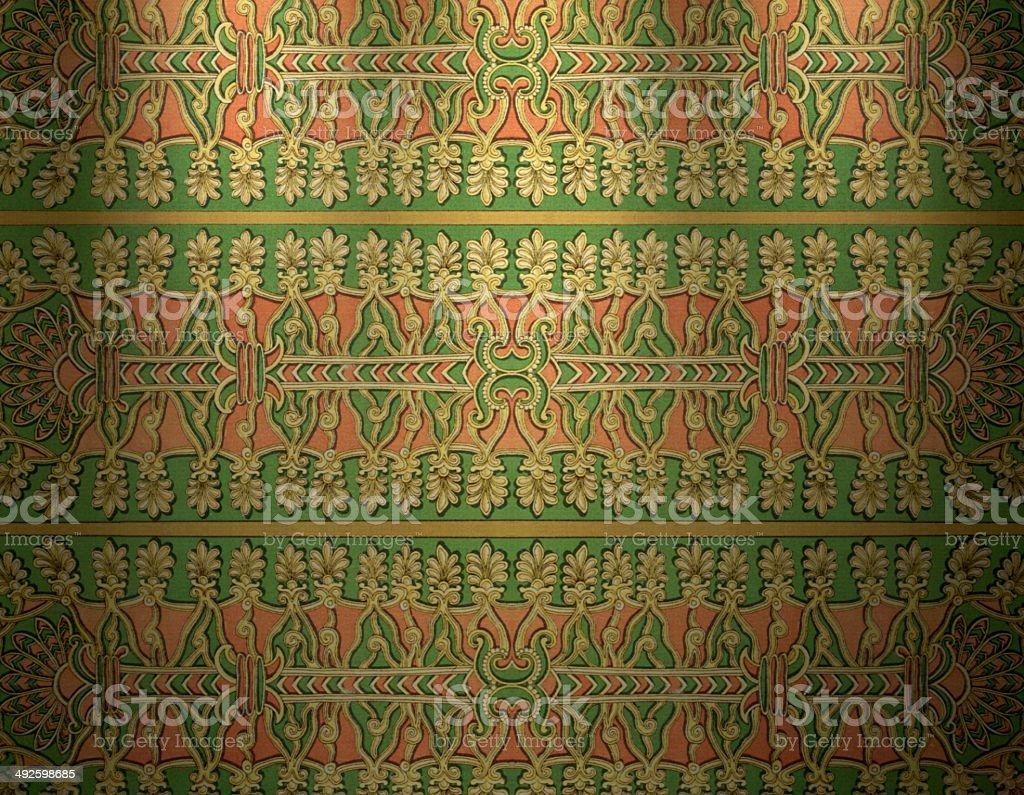 Traditional Assyrian Wallpaper vector art illustration