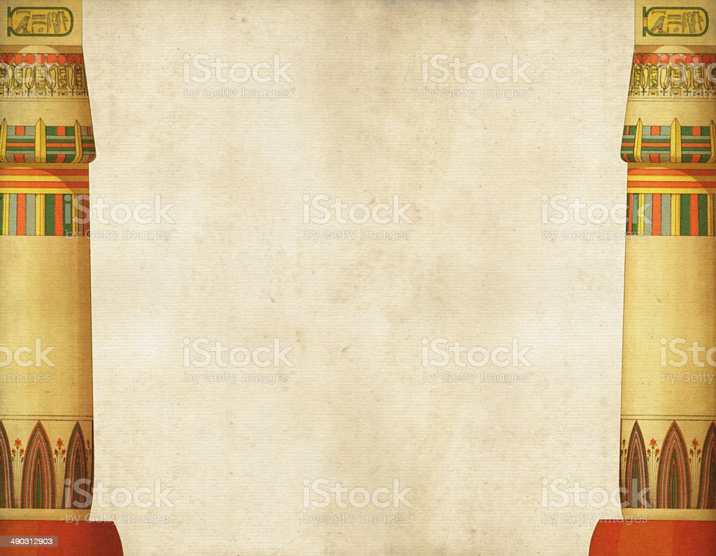 Traditional Egyptian Columns vector art illustration