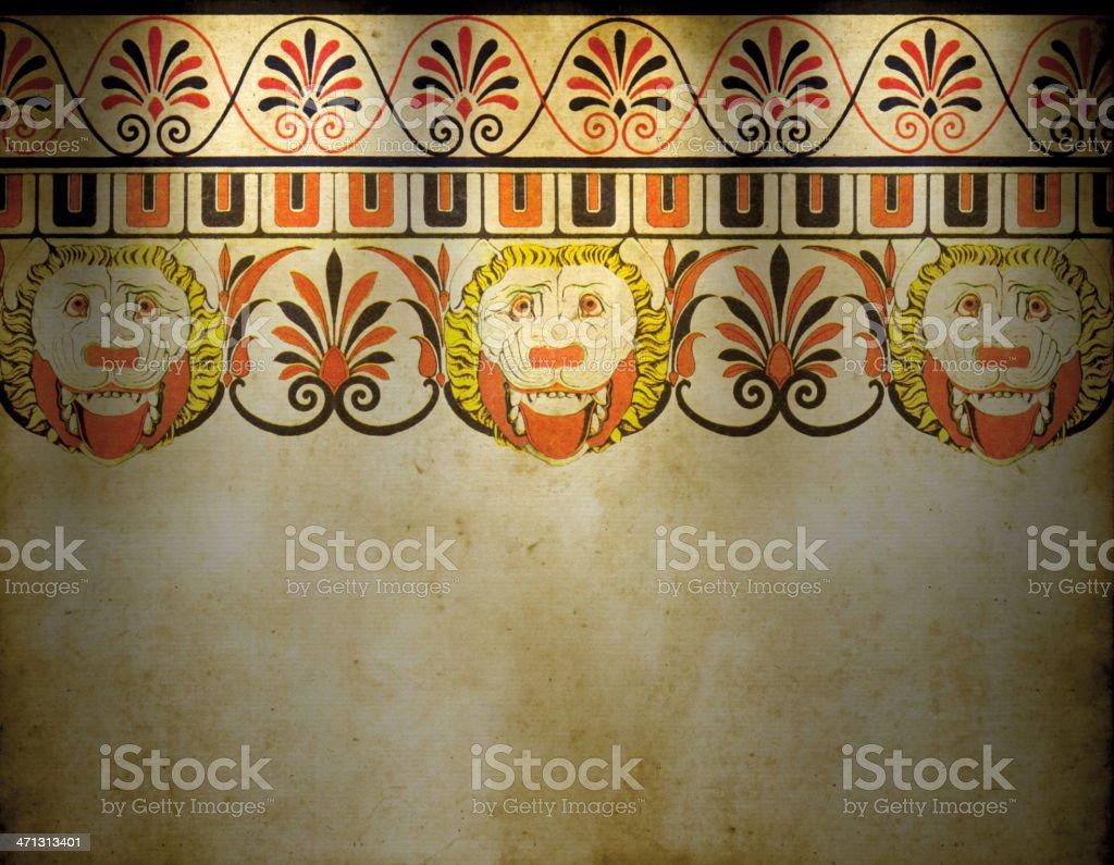 Traditional Greek Wallpaper royalty-free stock vector art