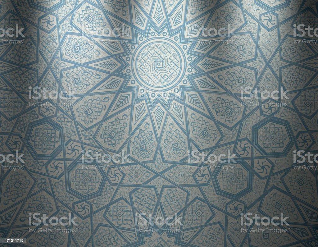 Traditional Oriental Wallpaper royalty-free stock vector art