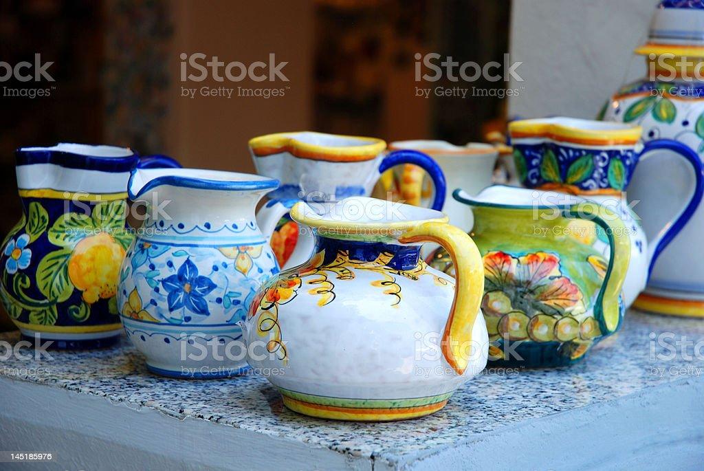 Traditional pots royalty-free stock vector art