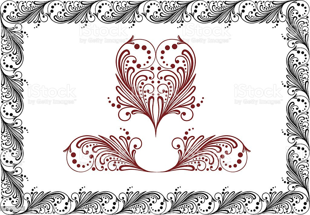 Traditional Russian floral frame royalty-free stock vector art