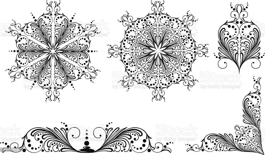 Traditional Russian floral ornament royalty-free stock vector art