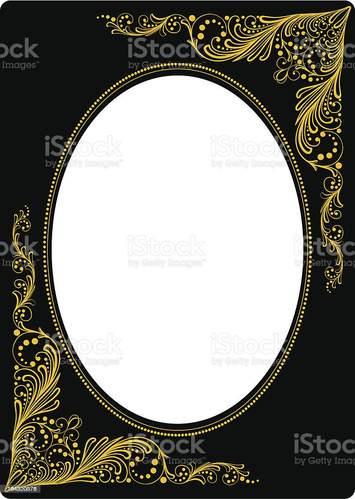 Traditional Russian floral photo frame royalty-free stock vector art