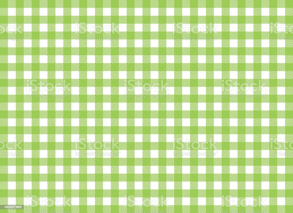 Traditional tabelcloth pattern background white and green vector art illustration