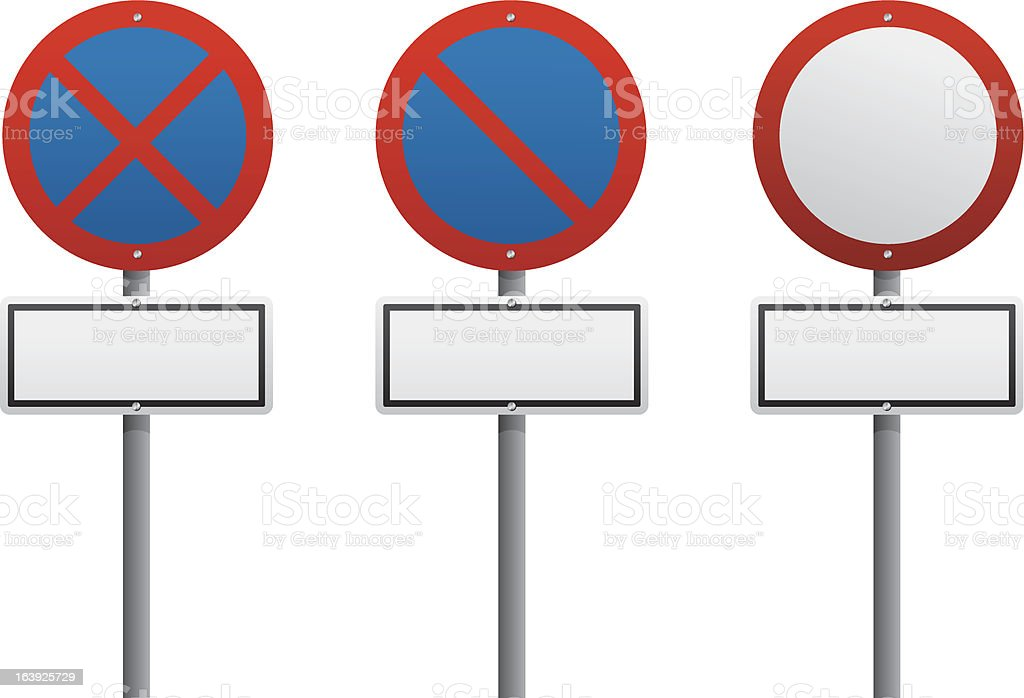 traffic sign red color.vector.eps10 royalty-free stock vector art