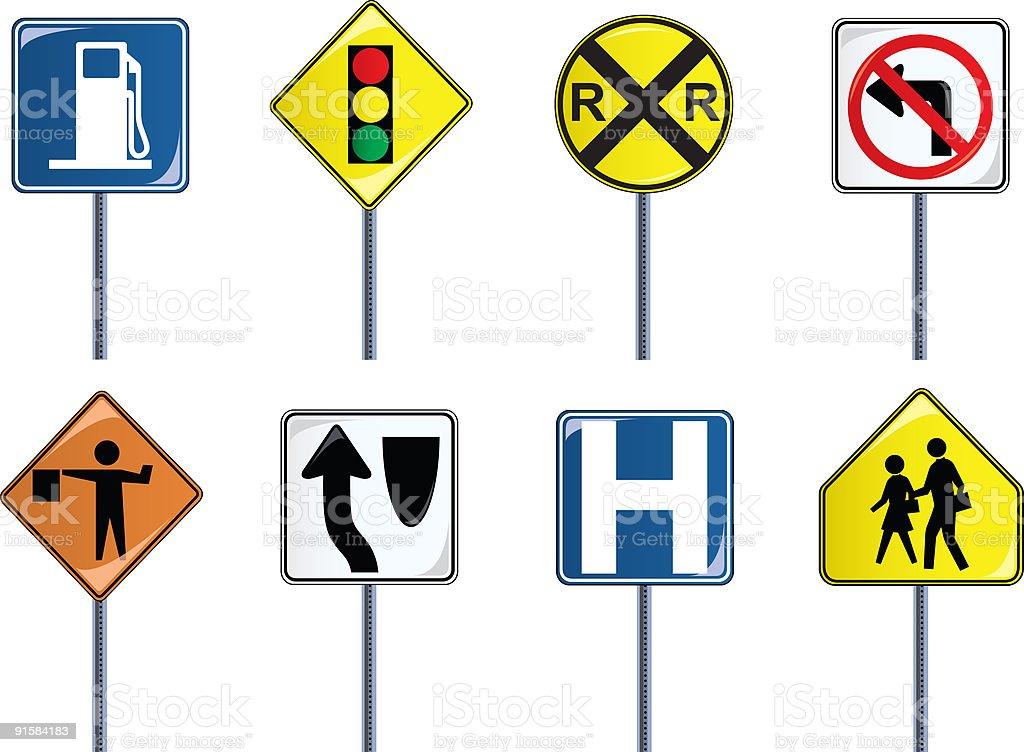 Traffic Signs Set 2 vector art illustration