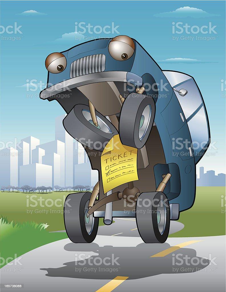Traffic Ticket royalty-free stock vector art