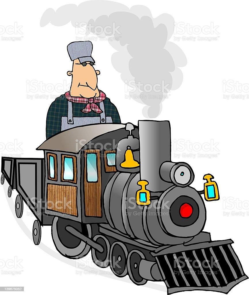 Train Engineer vector art illustration