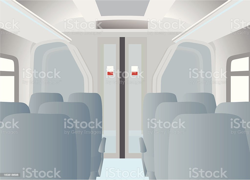 train interior royalty-free stock vector art