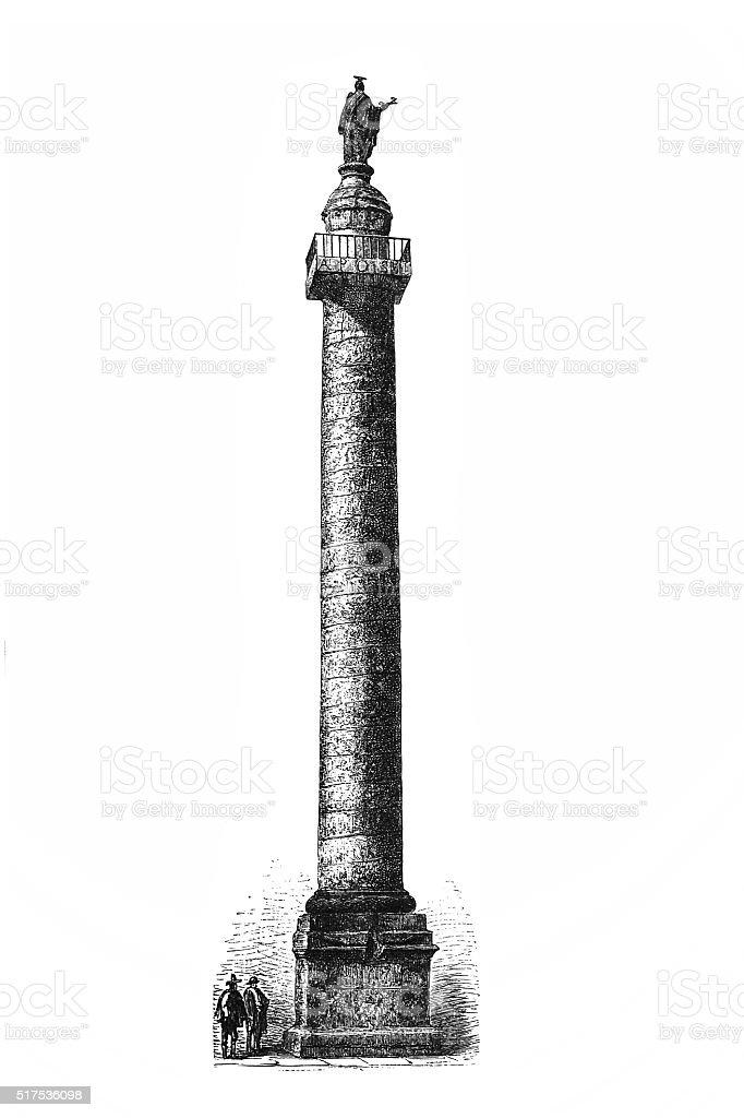 Trajan's Column vector art illustration