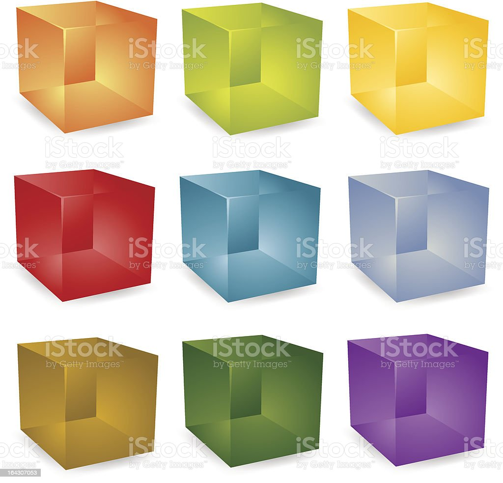 Translucent cubes royalty-free stock vector art