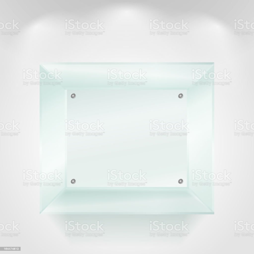 Transparent glass showcase royalty-free stock vector art