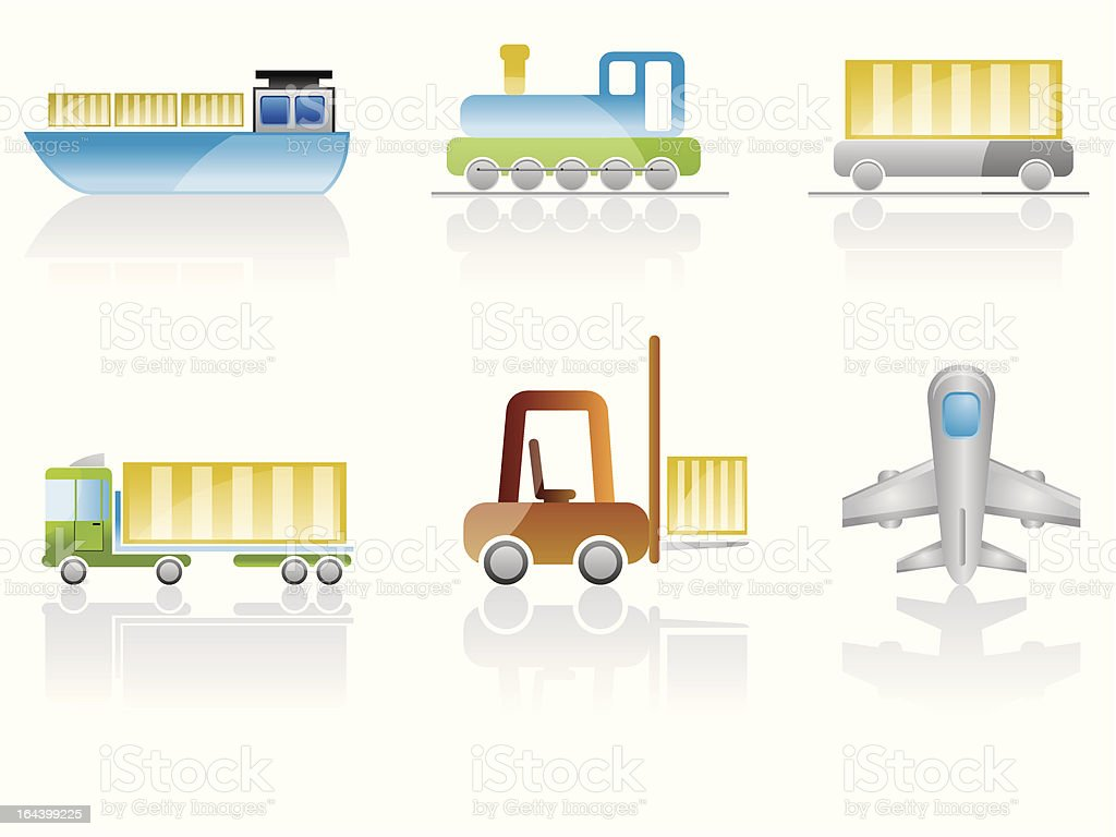 transport and travel icons royalty-free stock vector art