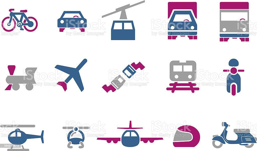 Transport Icon Set royalty-free stock vector art