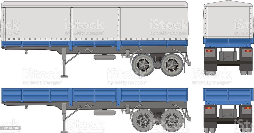transport trailer royalty-free stock vector art