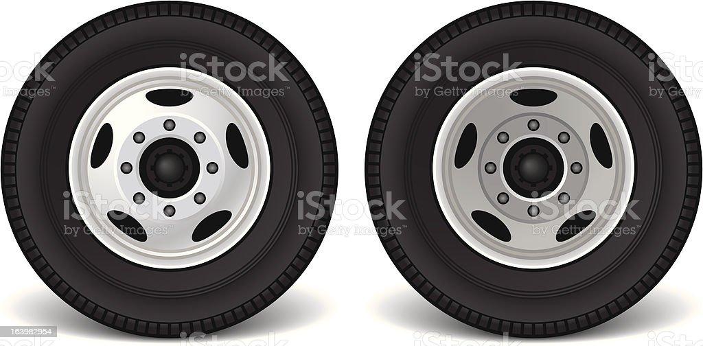 Transport Truck Wheels royalty-free stock vector art