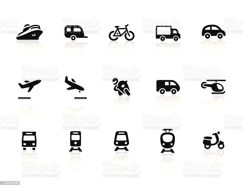 Transportation icons 1 vector art illustration