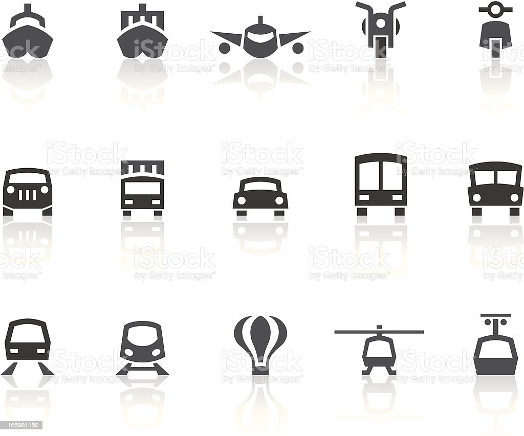 Transportation Icons | Simple Black Series vector art illustration